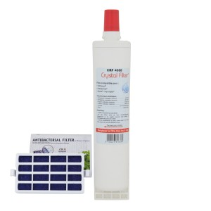 Filtre SBS002 - Filtre frigo compatible Whirlpool + Filtre Anti-bactérien - Crystal Filter